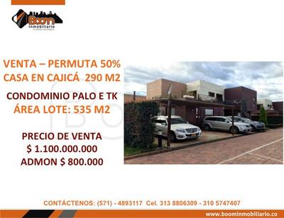 **venta Permuta 50% Casa Cajica 290 M2