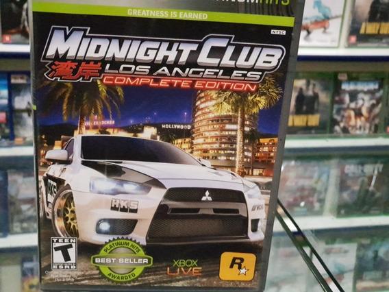Midnight Club Los Angeles Complete Edition X 360 Midia Fisic
