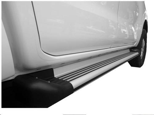 Estribos De Aluminio Con Luz Toyota Hilux Todos Los Modelos