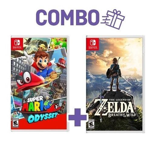 Mario Odyssey + Zelda Breath Of The Wild Switch Midia Fisica