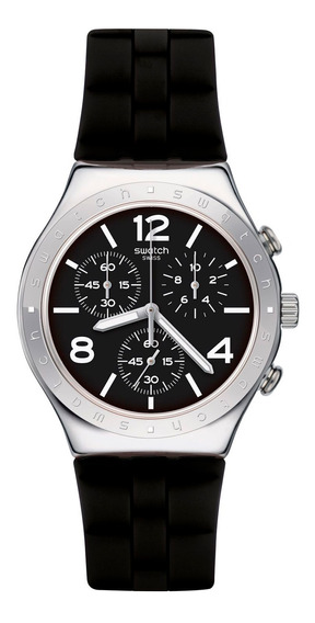Relógio Swatch Noir De Bienne Masculino Ycs116