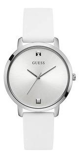 Reloj Guess W1210l1 Nova Blanco Mujer Silicona 100% Original