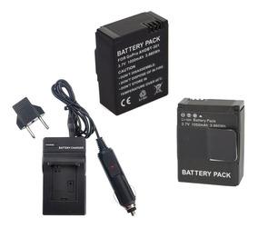 Kit 2 Bateria Carregador Gopro Go Pro Hero 3 E Hero 3+ Plus