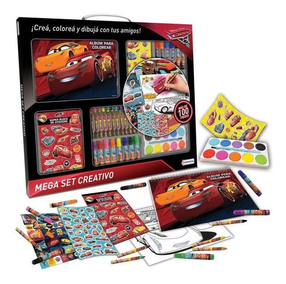 Mega Set Creativo De Actividades De Cars + 100 Piezas