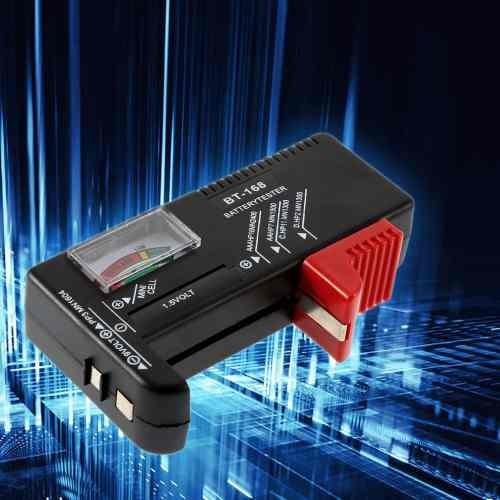 Testador De Pilhas & Baterias Aa Aaa C D 9v Botão Etc Bt-168