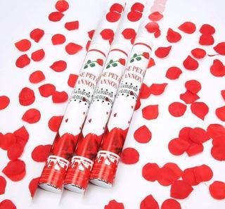 5 Lança Pétalas Vermelhas Confete