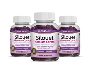 Kit 3x Silouet Absolute - Maxinutri # Ideal Para Emagrecer