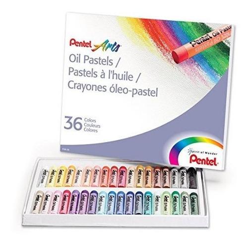Crayones Multicolores Al Oleo Pentel