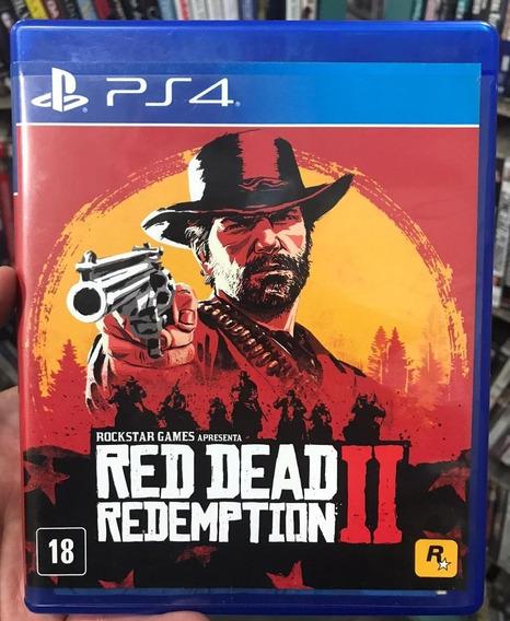Red Dead Redemption 2 - Ps4 - Mídia Física Com Mapa Original