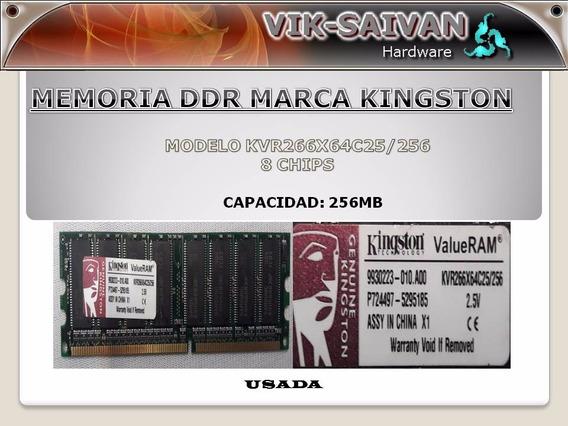 Memoria Ddr Kingston 256mb Pc-2100 266mhz 8 Chips 3