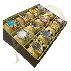 Kit C/ 05 Relógios Feminino Pulseira Atacado + Caixa E Bater