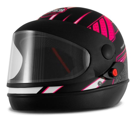 Capacete Feminino Pro Tork Sport Moto Power Girls Fechado