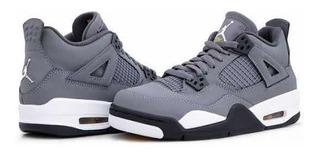 Tenis Air Jordan 4 Retro Gris, 100% Originales