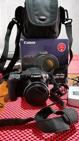 Câmera Fotográfica Canon Powershot Sx520 Hs