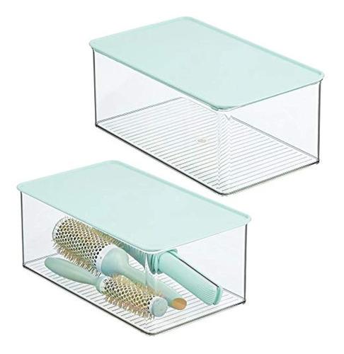 Caja De Almacenamiento Apilable De Plástico Para El Baño