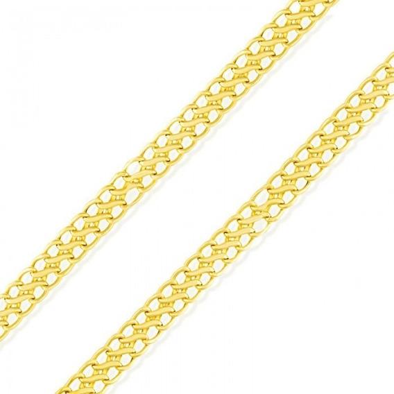 Corrente Colar Lacraia Feminina Ouro 18k-750 45cm