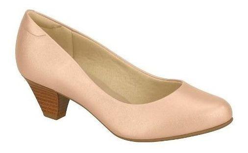 Sapato Scarpin Salto Medio Confort Modare 7005500 Nude
