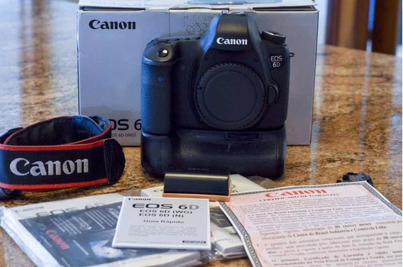 Camera Canon 6d Com Grip E Bateria