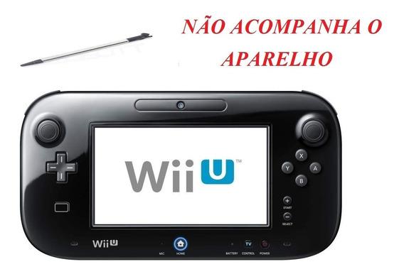 Wii U Nintendo Stylus Caneta Metálica Retrátil Preta Novo