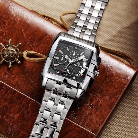 Relógio Masculino De Pulso Aço Inoxidável Luxo Frete Grátis