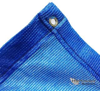 Tela Sombrite Azul 80% - 5m X 8m Com Bainha E Ilhós