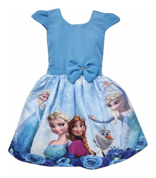 Vestido Frozen Elsa Anna + Tiara