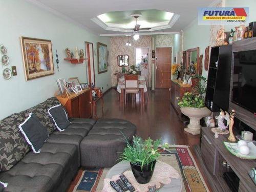 Apartamento Com 3 Dormitórios À Venda, 150 M² Por R$ 435.000,00 - Gonzaguinha - São Vicente/sp - Ap1341