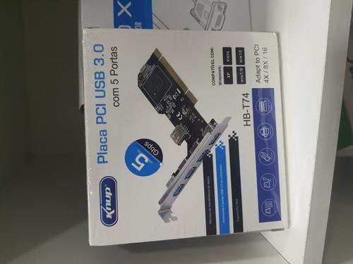 Placa Pci Usb 3.0  5 Portas Knup Hb-t74