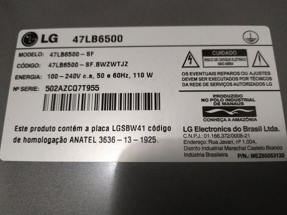 Tv LG Webos 47 Lb6500 Tela Quebrada ( Não Envio )