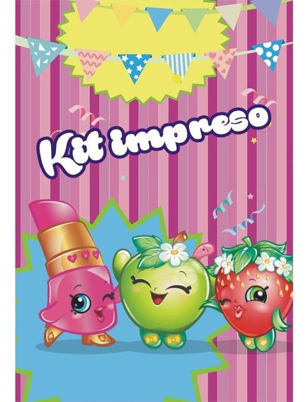 Kit Shopkins Impresos Y Personalizados P/15 Niños