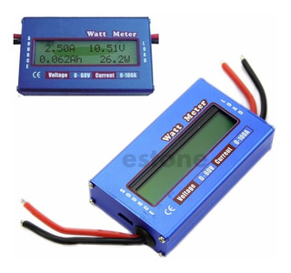 Wattímetro Volt Amperímetro 60v 100a Dc Medidor Som Bateria