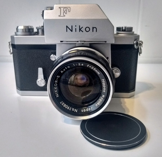 Nikon F Com Photomic Tn + Lente 35mm/f2.8 - Excelente Estado