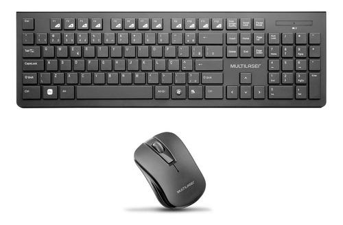 Kit Teclado Mouse Multilaser Multimídia Sem Fio Wireless Usb
