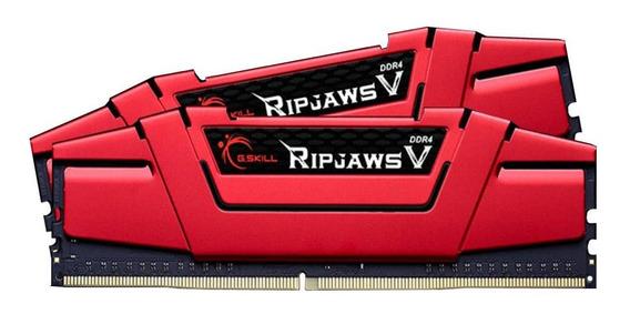 Memoria Ram 32gb G.skill Ripjaws V Series (2 X 16gb) 288-pin Sdram Ddr4 2666 (pc4 21300) F4-2666c15d-32gvr