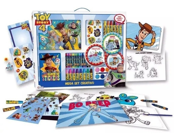 Mega Set Creativo Pintar Toy Story Peppa Spiderman Frozen