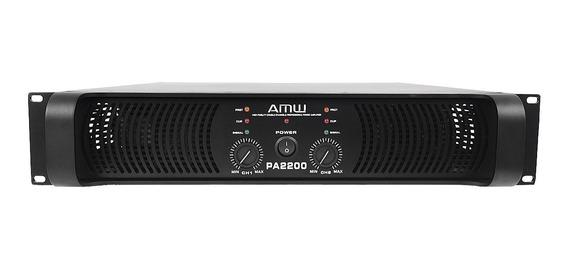 Amw Pa2200 Amplificador De Potência 2200 Watts Rms 2 Canais