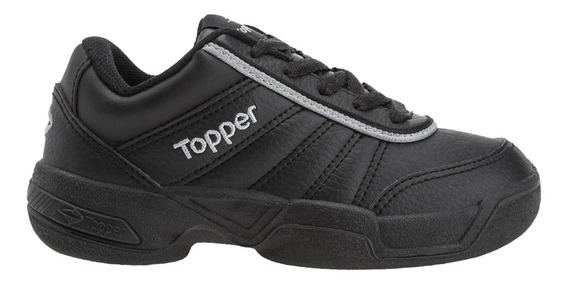 Zapatillas Topper C Tennis Tie Break Ii Kids Niño Ng/gr