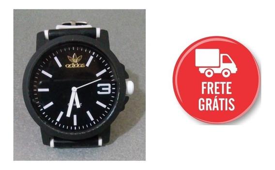 Relógio Preto Com Branco Color Colorido Casual Sport