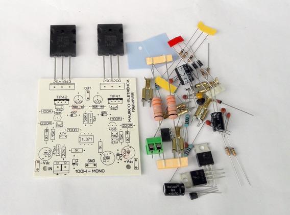 Componentes E Placa Para Montar Amplificador 100w 2sc/2sa