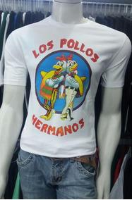 Camiseta Divertida Séries Breaking Bad Los Pollos Hermanos