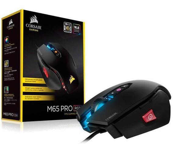 Mouse Gamer Usb Corsair M65 Pro Com Led 12000dpi + Original