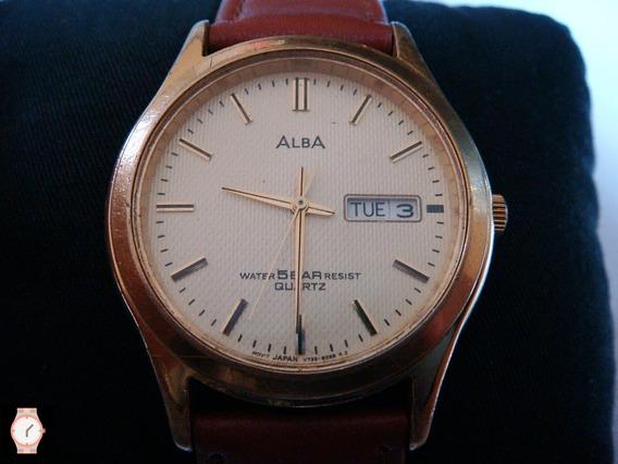 Reloj Alba By Seiko Quartz Chapa Dorada.