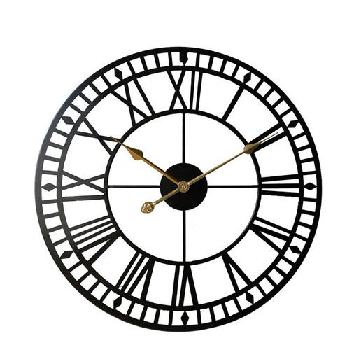 Imagen 1 de 9 de Reloj De Pared Metalico Grande Oficina Recepción Moderna