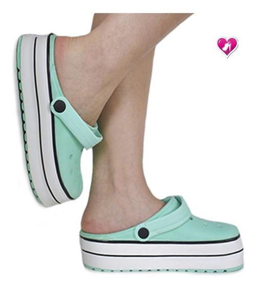 Zueco De Goma Con Band Plataforma Mod Apos De Shoes Bayres