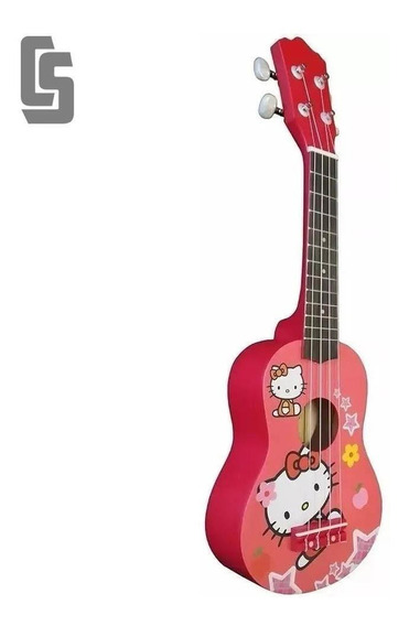 Ukelele Soprano Hoffmann Ku Hello Kitty (con Funda)
