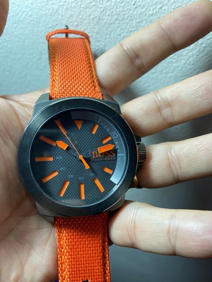 Hugo Boss Orange Relógio Pulso Masculino Pulseira Laranja