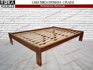 Cama Turca Otomana De 2 Plazas Barnizado