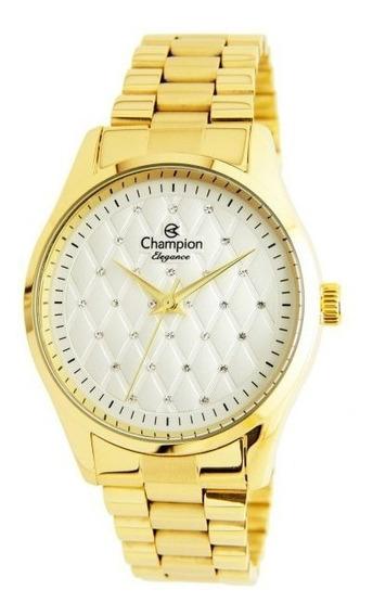 Relógio Feminino Champion Dourado Cn24039h