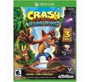 Jogo Crash Bandicoot N-sane Trilogy Xbox One Novo