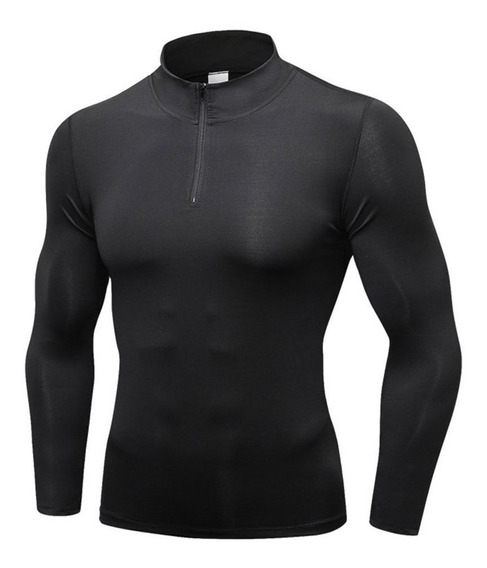 Xxl Men Compressão Top Fast Dry Camisola Baselayer Manga Co